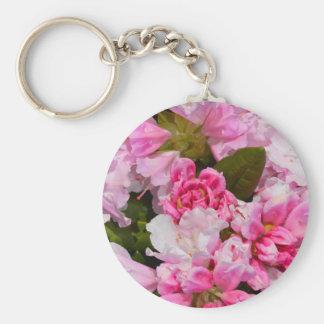 Rosa Rhododendron-Blumen in der vollen Blüte Schlüsselanhänger