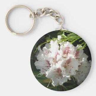 Rosa Rhododendron-Foto Standard Runder Schlüsselanhänger