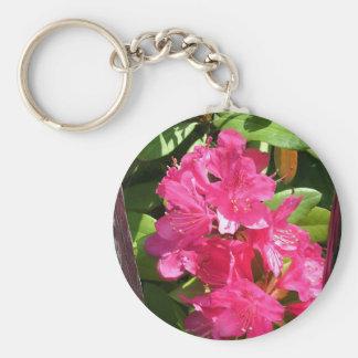 rosa Rhododendron Standard Runder Schlüsselanhänger