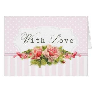Rosa Romance mit Liebe Karte