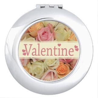 Rosa romantische Rosen Schminkspiegel