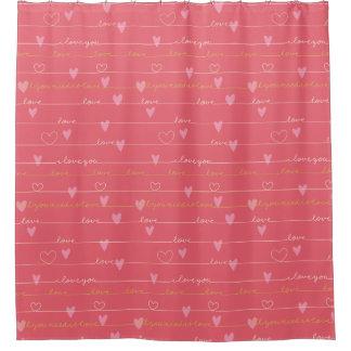 Rosa romantischer Duschvorhang der Liebe