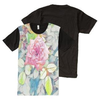 rosa Rose des Singles T-Shirt Mit Bedruckbarer Vorderseite