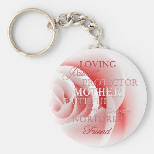 Rosa Rose für Mamma Standard Runder Schlüsselanhänger