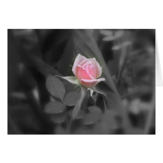 Rosa Rose NoteCard (freier Raum nach innen) Mitteilungskarte