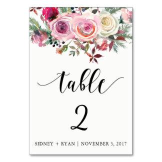 ROSA ROSE Tabellen-Karten-kundengerechtes vorderes Karte
