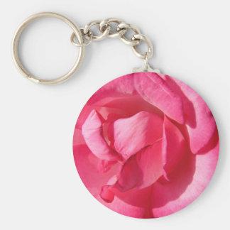 Rosa Rosen-Blumenblätter Schlüsselanhänger