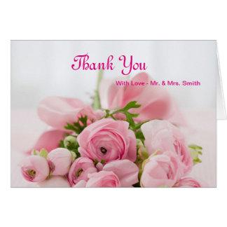 Rosa Rosen-Blumenstrauß danken Ihnen Karte