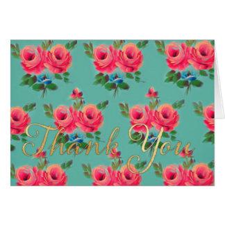 "Rosa Rosen ""danken Ihnen"" notecard Karte"