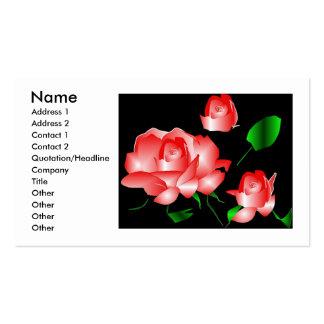 """""""Rosa Rosen-Florist II"""" Visitenkarte"""