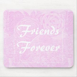 Rosa Rosen-Freund-für immer Geschenk Mousepad