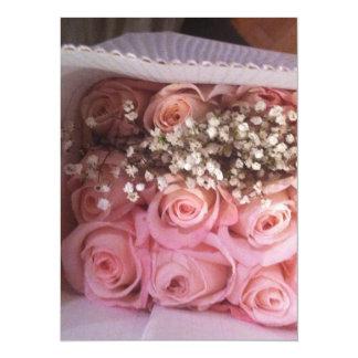 Rosa Rosen laden ein Karte
