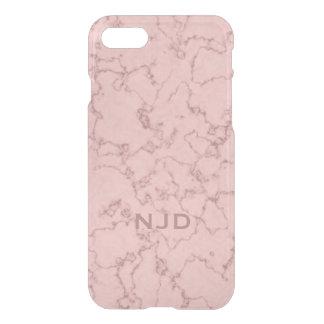 Rosa Rosen-Quarz-Marmor personalisiertes iPhone 7 iPhone 8/7 Hülle
