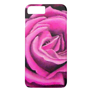 Rosa Rosen-romantische hübsche Pastellkunst iPhone iPhone 7 Plus Hülle