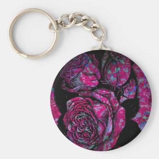Rosa Rosen Schlüsselanhänger