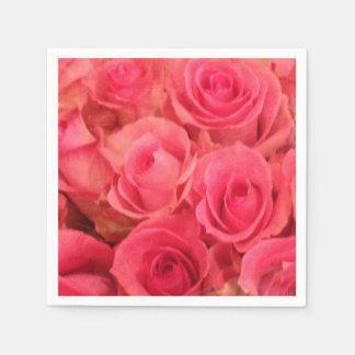 Rosa Rosen-Servietten Papierserviette