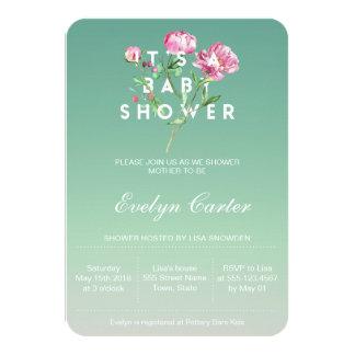 Rosa Rosen-Wasserfarbe   ist es eine Baby-Dusche Karte