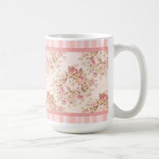 Rosa schäbige Rosen-mit BlumenTasse Kaffeetasse
