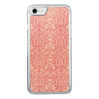 Rosa Schafgarbe-Blumendamast Carved iPhone 7 Hülle