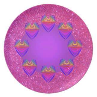 Rosa Schein lila 3 der Picknick-Party-Platten-3 Melaminteller