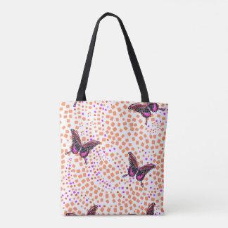 rosa Schmetterling 30. Tasche