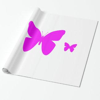 Rosa Schmetterling Geschenkpapierrolle