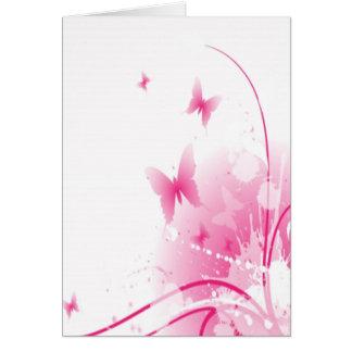 rosa Schmetterling Karte