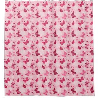 Rosa Schmetterlingsmuster Duschvorhang