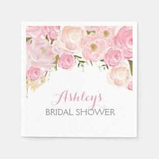 Rosa schöne Blumenservietten Papierserviette