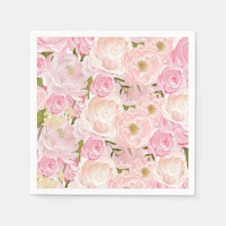 Rosa schöne Blumenservietten Serviette