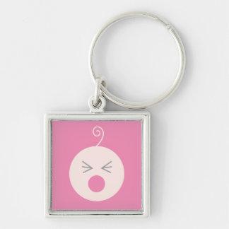 Rosa Schrei-Baby-Schlüsselkette Schlüsselanhänger