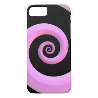 Rosa-/Schwarz-Spirale iPhone 7 Hülle