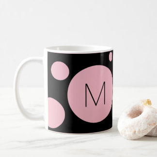 Rosa/schwarze Punkt-Gewohnheits-Tasse Tasse