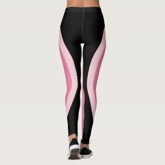 Rosa schwarzer Minimalist des geometrischen Leggings