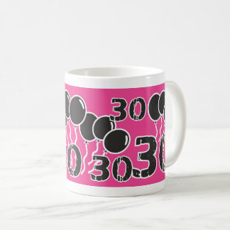 ROSA SCHWARZES 30. Geburtstags-Tasse Kaffeetasse