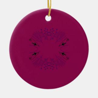 Rosa Schwarzes der Mandala Rundes Keramik Ornament