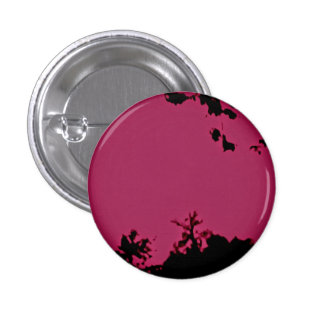 Rosa schwarzes Knopf-Button Runder Button 3,2 Cm