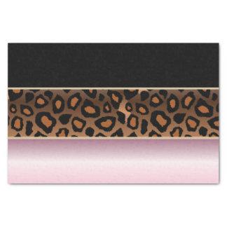 Rosa, Schwarzes und Jaguar-Druck Seidenpapier