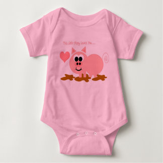 Rosa Schwein Baby Strampler