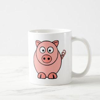 Rosa Schwein Kaffeetasse
