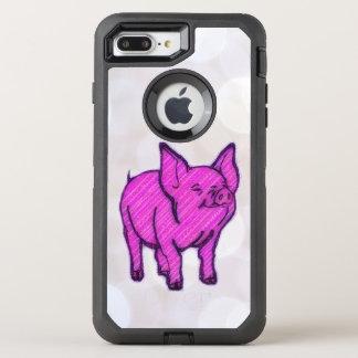 Rosa Schwein OtterBox Defender iPhone 7 Plus Hülle