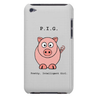 Rosa Schwein-Spaß iPod Case-Mate Case