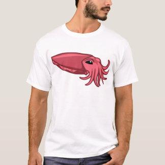 Rosa Schwimmen-Kopffüßer T-Shirt