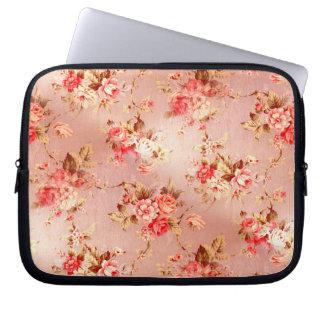 Rosa Shabby Chic-Blumen-Elektronik-Hülse Laptop Computer Schutzhüllen