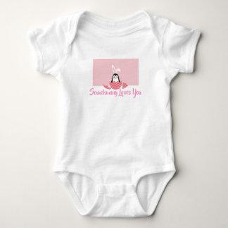 Rosa Somebunny Lieben Sie Baby Strampler