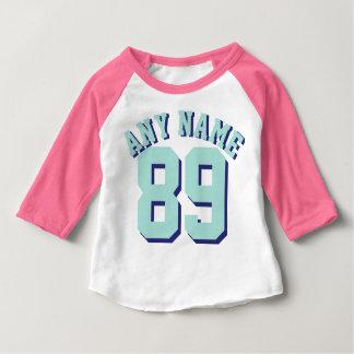 Rosa Sport Jersey des Weiß-u. Aquamarine-Baby-| Baby T-shirt