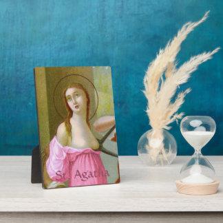 "Rosa St. Agatha (M 003) 5"" x7 "" Fotoplatte"