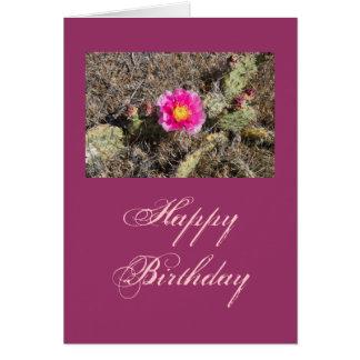 Rosa stachelige Birnen-Blumen-Geschenk Karte