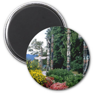 Rosa Stanley-Park, Vancouver-Blumen Runder Magnet 5,7 Cm