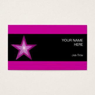 Rosa Stern-Visitenkarteseitensternschwarzstreifen Visitenkarte